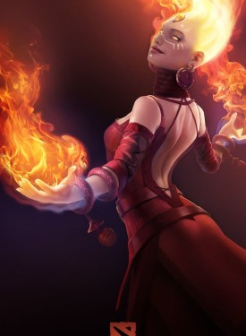Lina mobile phone wallpapers Dota 2