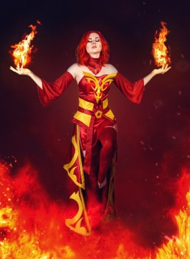 Lina iphone retina wallpaper Dota 2