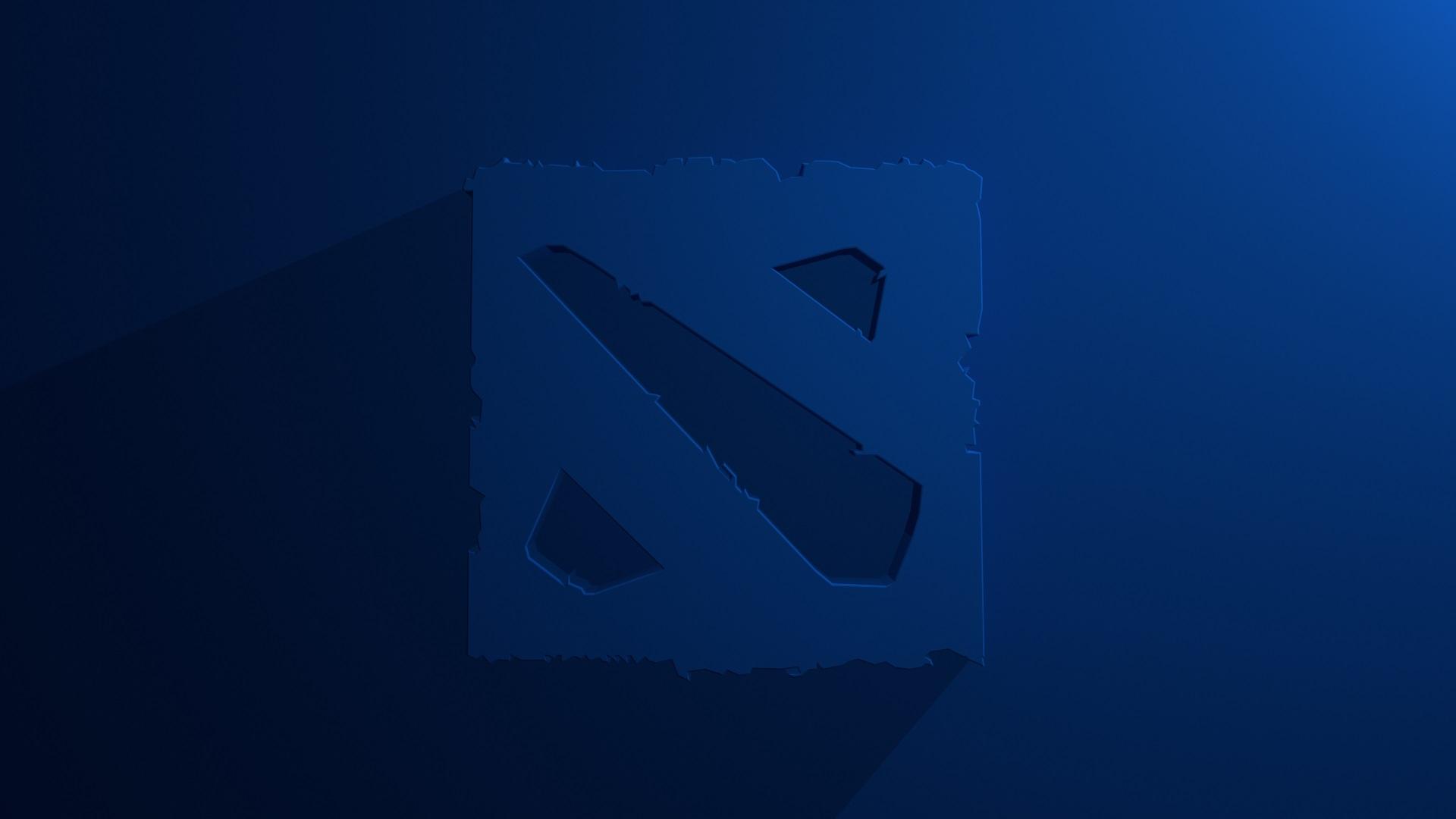Dota 2 logo blue background, desktop photos | Wallpapers ...