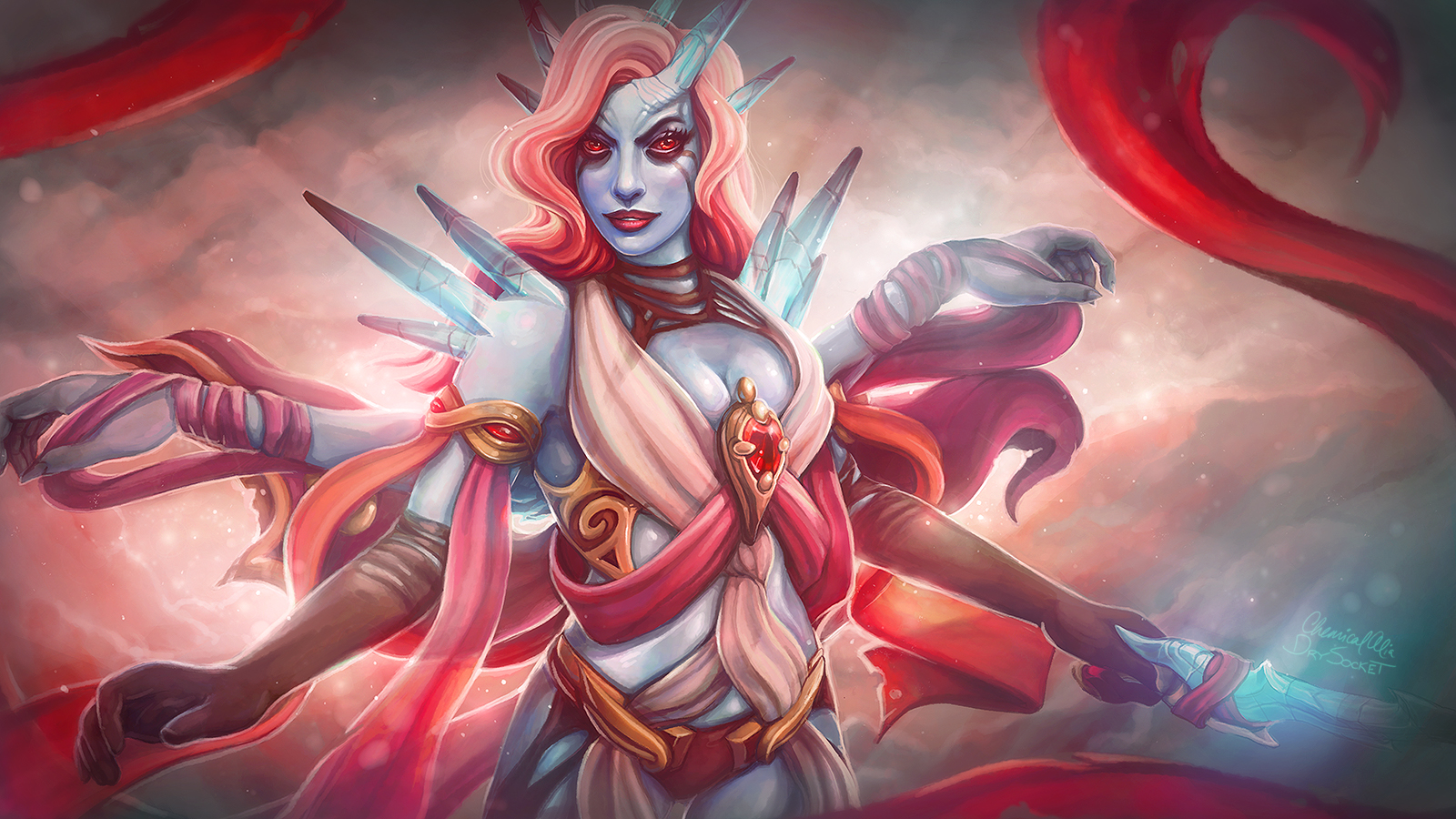 Queen of pain Disarming Embrace Dota 2