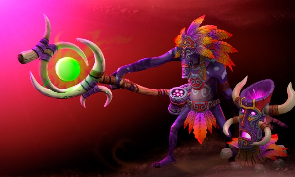 The Witch doctor of dark forces backround